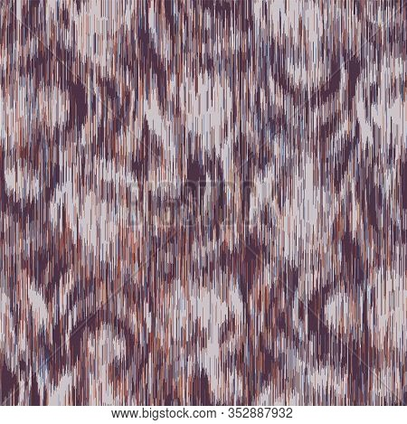 Blurred Camouflage Effect Ikat Vector Texture. Modern Animal Skin Mottled Background. Seamless Non P