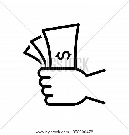 Black Line Icon For Valuable Precious Costly Expensive Overpriced Currency Wealth Spending