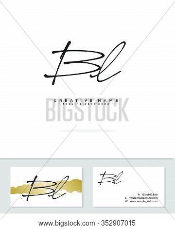 B L Bl Initial Logo Signature Vector. Handwriting Concept Logo.