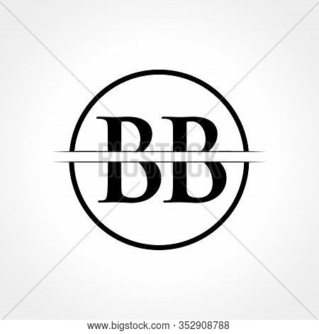 Initial Black Letter Bb Logo With Creative Circle Typography Vector Template. Creative Abstract Lett