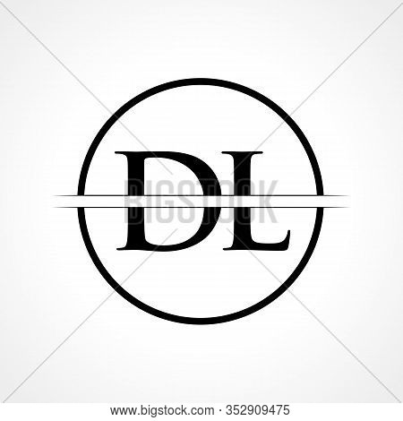 Initial Dl Letter Vector Photo Free Trial Bigstock