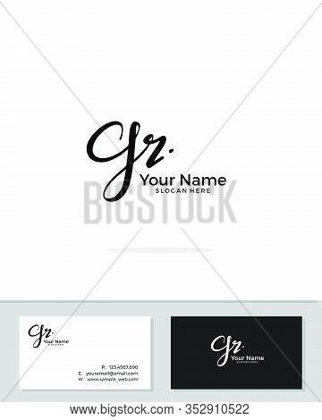 G R Gr Initial Logo Signature Vector. Handwriting Concept Logo.