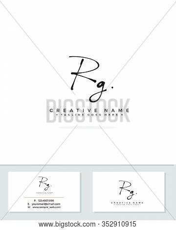R G Rg Initial Logo Signature Vector. Handwriting Concept Logo.