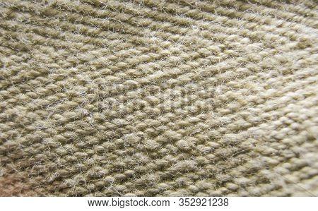 Burlap Texture Of The Old Fabric From Yarn. Fiber Fabric Burlap Close-up Macro.