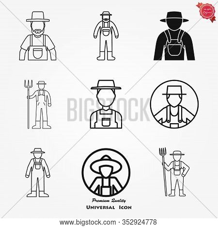 Farmer Icon - Vector Farmer Avatar Or Symbol