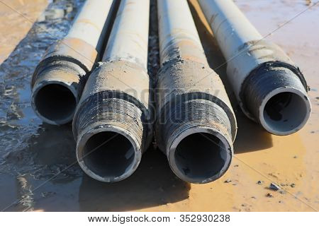 Drilling Rig. Drilling Deep Wells. Drilling Equipment And Tools. Mineral Exploration. The Device Of