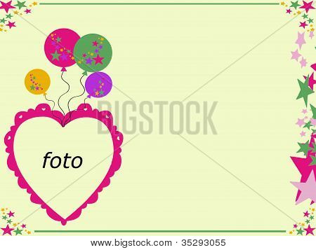 Heart frame note card