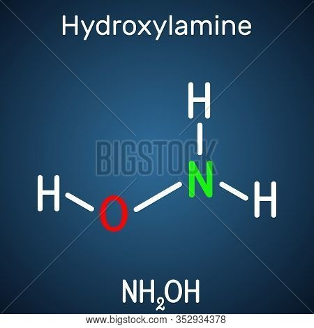 Hydroxylamine, Nh2oh Molecule. It Is Inorganic Compound, Used In Organic Synthesis And As A Reducing