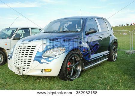 Northampton, Uk - September 9: Custom Chrysler Pt Cruiser Hot Rod At A Motor Sport Event Near Northa