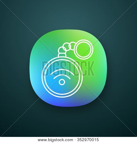 Nfc Trinket App Icon. Near Field Communication. Rfid Tag. Contactless Technology. Ui Ux User Interfa