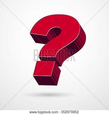 3d Question Mark Query Symbol Vector Icon, Design Element.