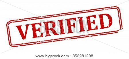 Scratched Oval Red Stamp With The Word Verified