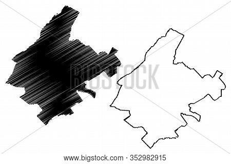 Athens City (hellenic Republic, Greece, Hellas, Attica) Map Vector Illustration, Scribble Sketch Cit