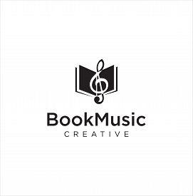 Note Music Book Logo Design Inspiration . Open Music Book Logo . Music Book Logo . Book Music And No