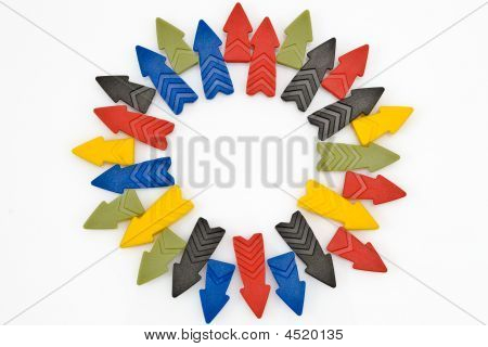 Colorful Arrows In A Circle