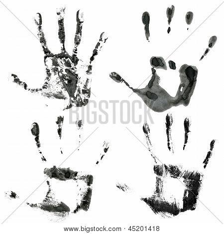 Black Hands Print