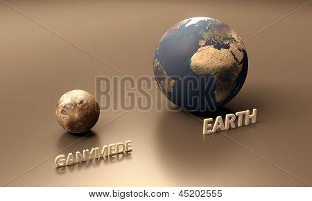 Ganymede And Earth