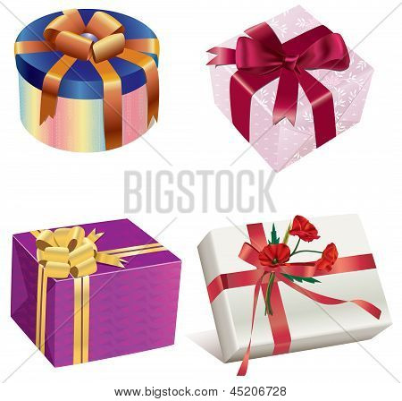 Four gift boxes