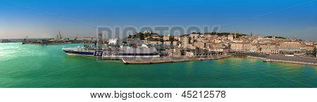 Panorama Of Ancona Port, Italy