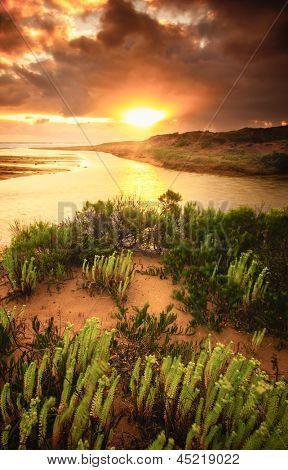 Beautiful sunrise on the South Australian coast