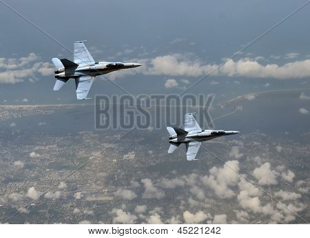 Jetfighters At High Altitude