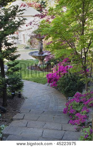 Brick Pavers Walkway To Front Yard