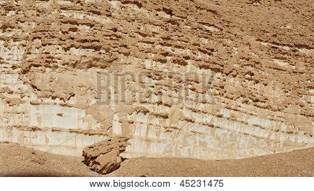Textur einer Orange verwitterte Felsen in der Wüste