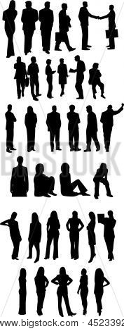 Silhouettes Of Professionals