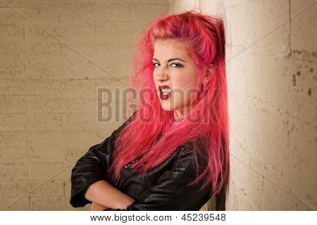 Mad Young Woman