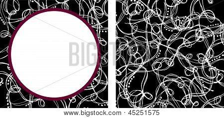 Swirly background pattern