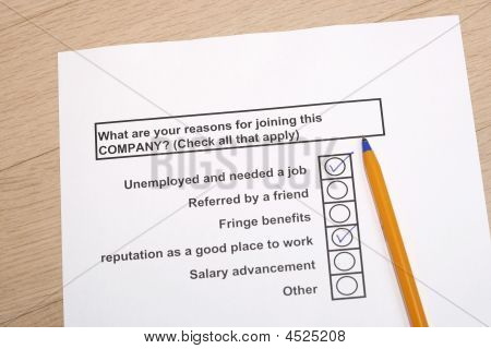 Reasons For Joining A Company