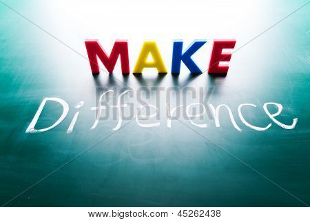 Make difference concep