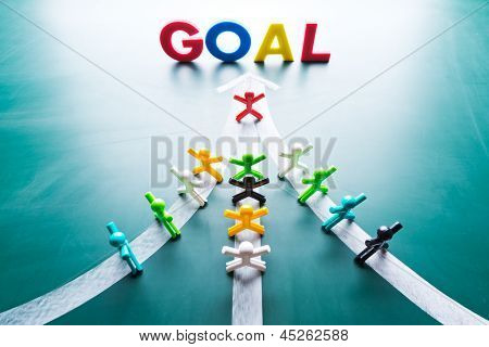Goal And Teamwork Concept