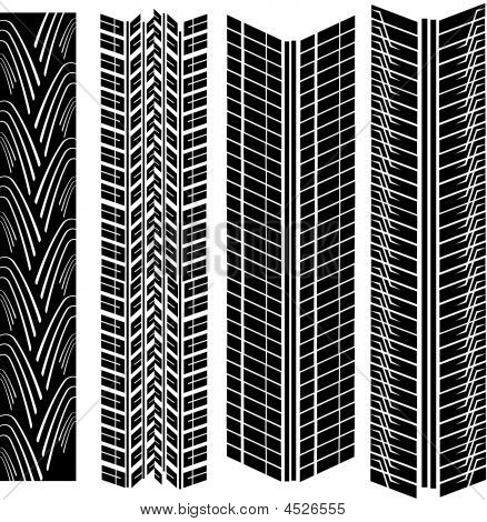 Tire Prints Vector