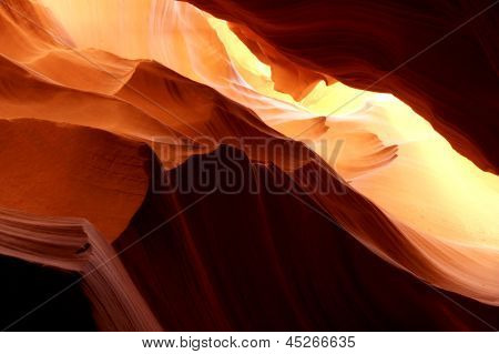 Beautiful Light Reflection in Antelope Canyon,Arizona