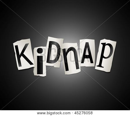 Kidnap Concept.