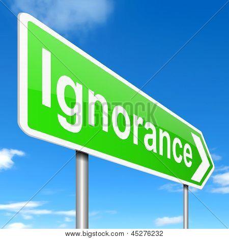 Ignorance Concept.
