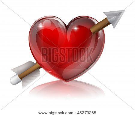 Love Heart Symbol With Arrow