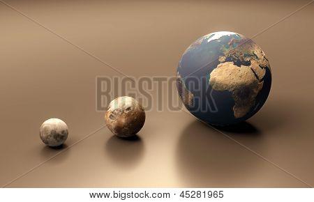 Ganymede The Moon And Earth Blank