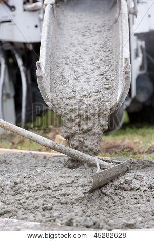 Cement Work Pour Patio