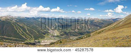 Copper Mountain Ski Area Panorama