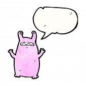 cartoon alien slug monster poster