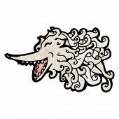 cartoon wolf spirit poster