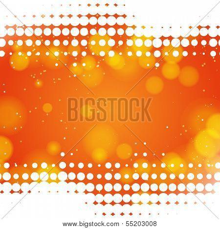 Orange dot background