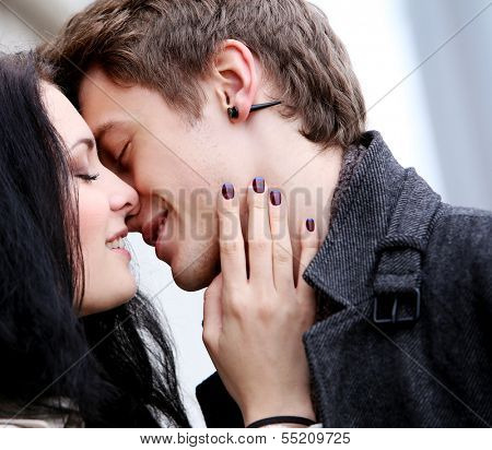 Lovely couple do love each other very well