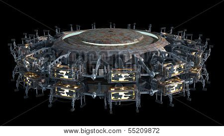 Science fiction spaceship