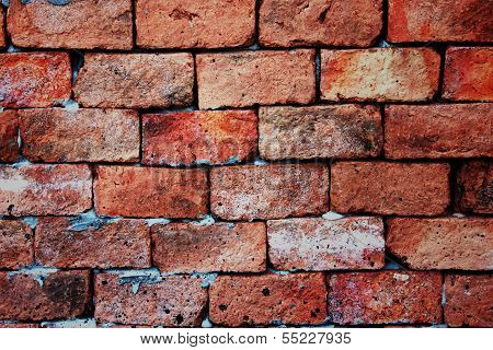 Brick Background Of Stone Vivid Color.