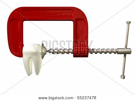 Toothache In Clamp