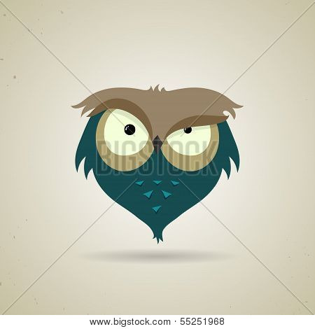 Cute little blue and grey owl