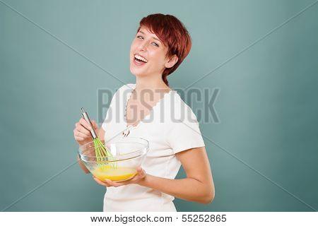 Woman Stirring Eggs